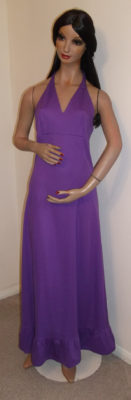 1970s purple maxi dress