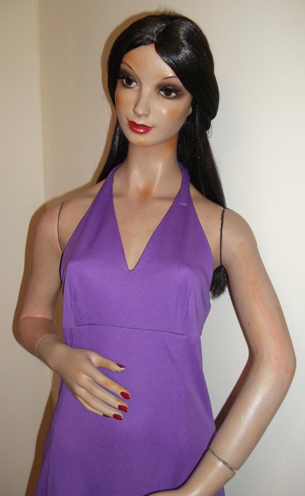 1970s purple maxi dress - top
