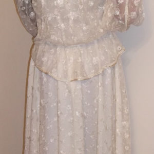 1970s Frank Usher lace suit - back