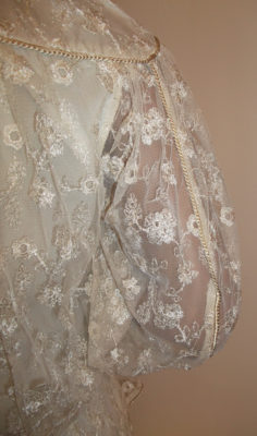 1970s Frank Usher lace suit - arm close up