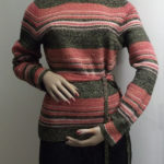 1970s striped jumper with belt on mannequin