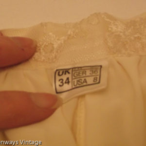 Frank Usher size label from 1970s lace suit