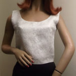1950s/60s silver top on mannequin