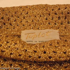 label for 'Toplet' gold top - 1970s