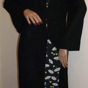 1940s/50s black dress - daisy pattern inserts