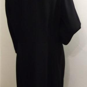 1940s black dress - back view