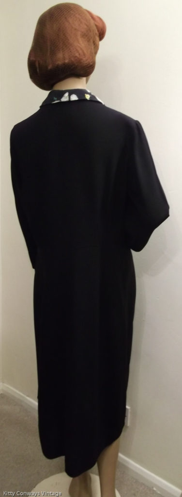 1940s black dress - back view