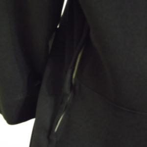 1940s black dress - close up of side zip