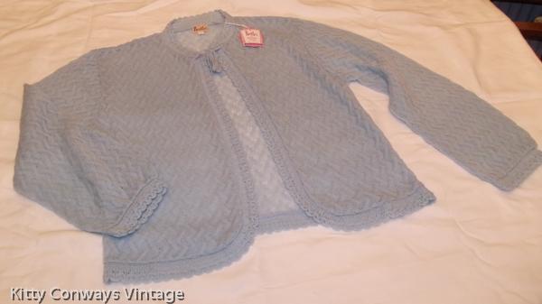 Blue Brettles bed jacket