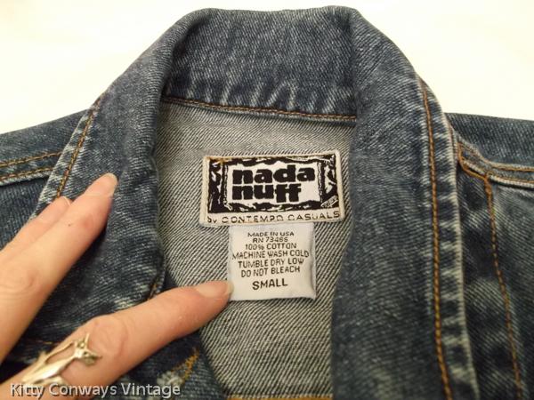 Denim waistcoat - Nada nuff label