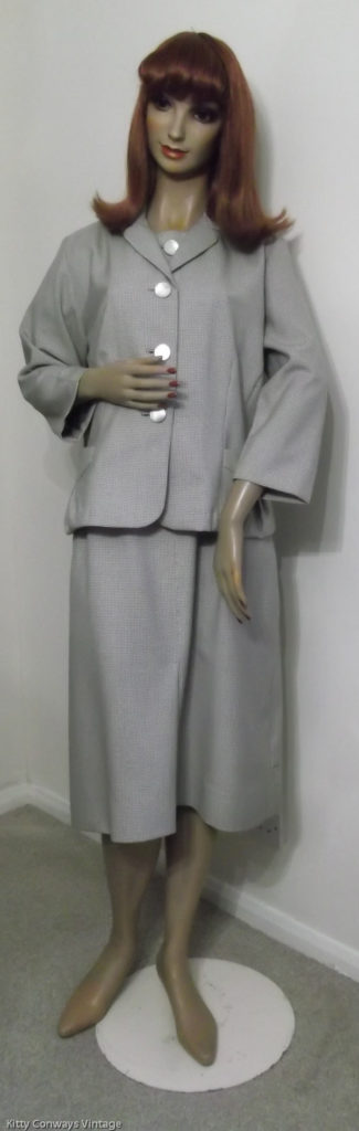 1950s/60s dress suit - front view with jacket