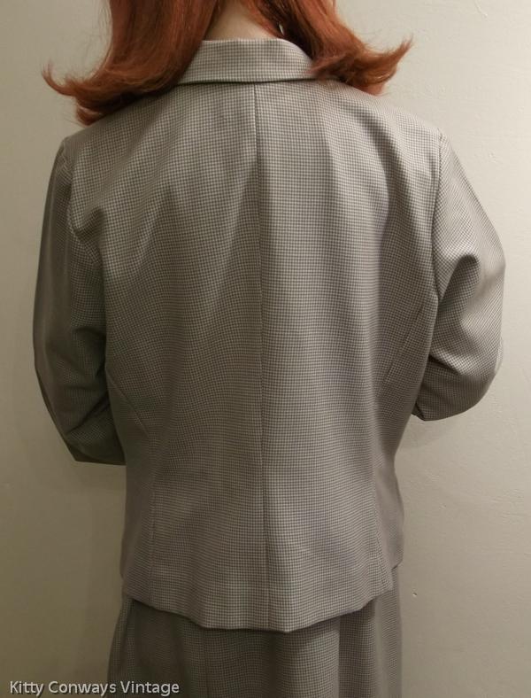 1950s/60s dress suit - back view