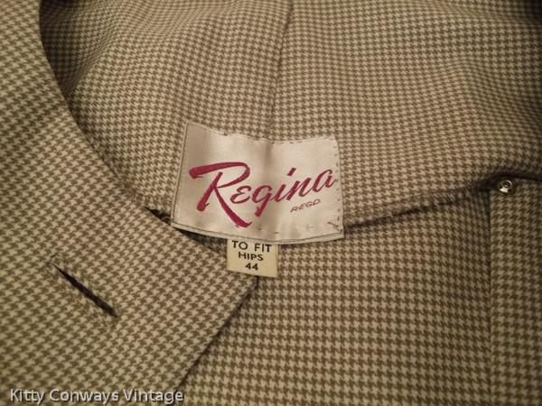 1950s/60s dress suit - label - Regina regd