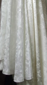 Selection of 1930s/1940s wedding dress fabrics