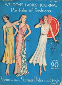 Front cover of 1931 magazine with free Summer Undies patterns!